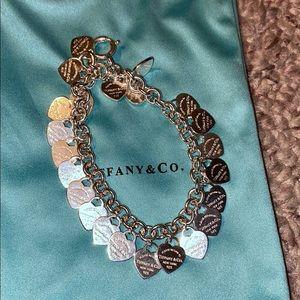 Women Tiffany & Co Sterling Silver Charm Bracelet